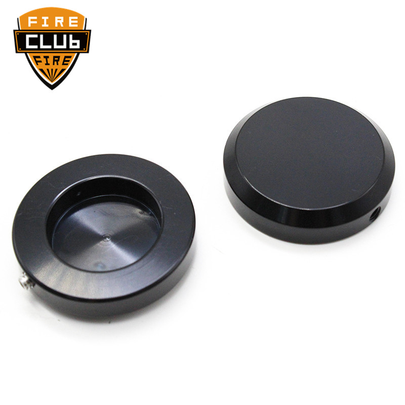 2Pcs Motorcycle Fork Cap Cover Motorcycle CNC Black Billet Front Fork Cap Axle Caps for Victory Cross Country Highball
