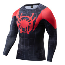 Men Tshirts Parallel Universes SpiderMan Compression Shirt 3D T-shirt Marvel Avengers Cosplay Costume
