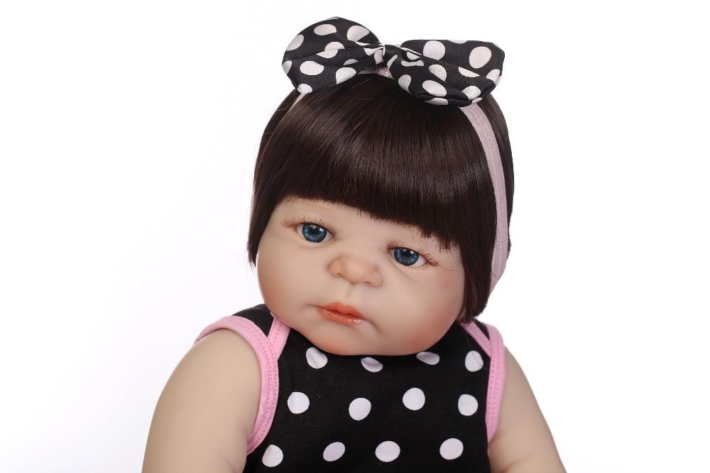"""Npkcolección 19 """"cuerpo completo de silicona Reborn Girl Baby Doll juguetes recién nacido princesa bebés muñeca Regalo de Cumpleaños niños Brinquedos-in Muñecas from Juguetes y pasatiempos    3"""
