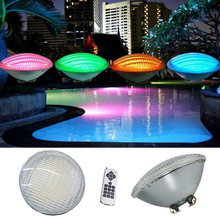Remote control 18w 24w 36w 54w Par 56 LED underwater swimming.pond,fountains lakes AC/DC RGB superb bright IP68 Warm/white