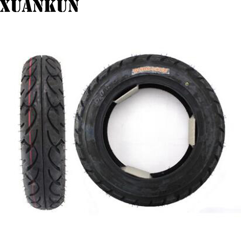 Before and after the XUANKUN Scooter Tire 3.5-10 Vacuum Tire Motorcycle Tire Friction 3.5*10