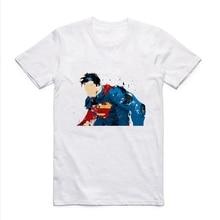 Batman v Superman: Dawn of Justice Creative design Superman Batman Hero Series Logo Summer Round-collar Men's T-shirt high quality 27cm superman action figure play arts pa kai dawn of justice batman v superman pvc toys 25cm 265