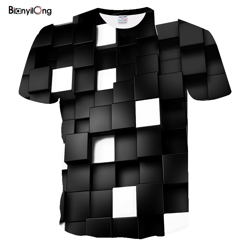 BIANYILONG 2019 Newest T Shirt Men Summer Style Fashion Print 3D T Shirt Men Colorful Printing Short Sleeved Tees Tops T-shirt