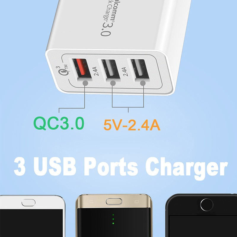 Quick Charger 30W QC 3.0 Fast Chargers For Samsung S9 S8 Xiaomi Redmi 4X 5 iPhone X 8 Plus 6 7 iPad Universal USB Power Adapter