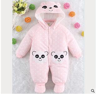 2016 de invierno de doble cara de algodón leotardo ropa de escalada Mameluco Del bebé en polvo para aumentar el algodón Winnie