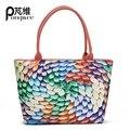 PONGWEE Desinger Mulheres Messenger Bags Bolsa de Ombro Impressão 3D Kawaii Messenger Bags Alta Crossbosy Saco para Meninas