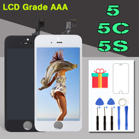 1pcs 100 AAA Test LCD Pantalla For IPhone 5s 5c 5 Display With Touch Screen Digitizer