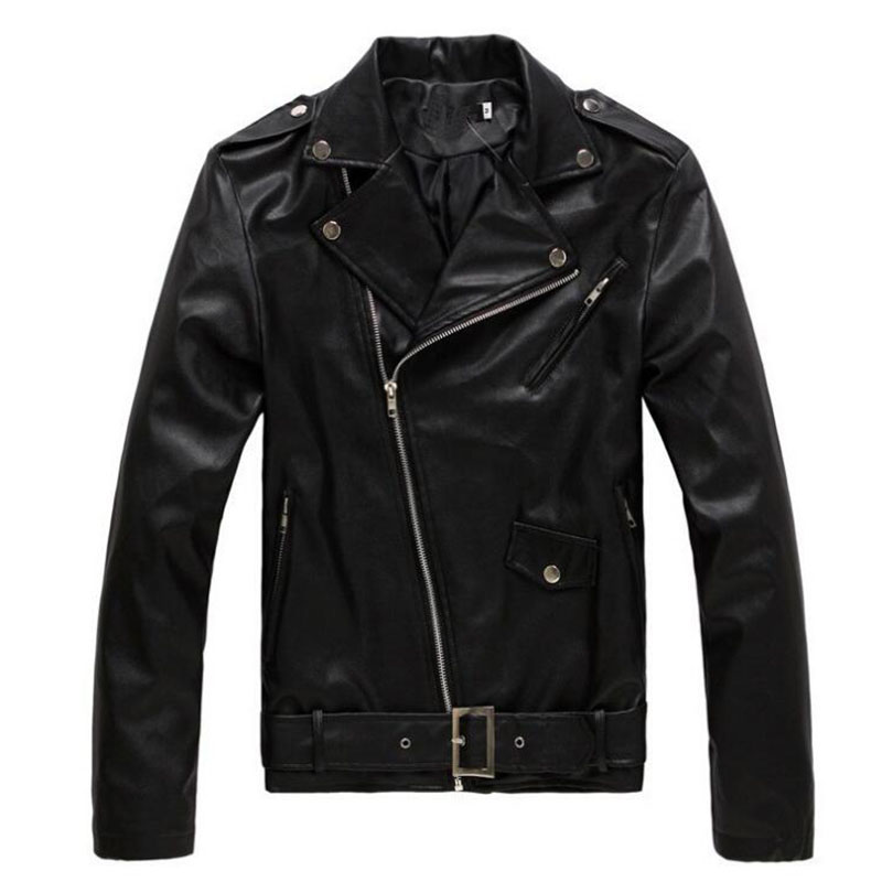 Autumn Men Leather Jacket Fashion Pu Male White Leather Motorcycle Jacket Coats Mens Brand Clothing Coat Black Brown M -3xl