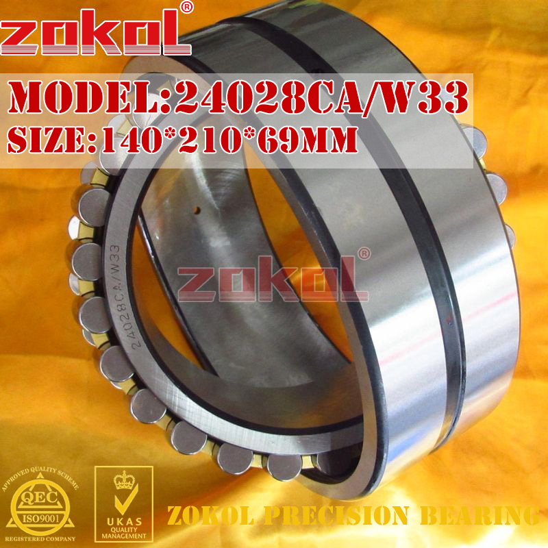ZOKOL bearing 24028CA W33 Spherical Roller bearing 4053128HK self-aligning roller bearing 140*210*69mm mochu 22213 22213ca 22213ca w33 65x120x31 53513 53513hk spherical roller bearings self aligning cylindrical bore