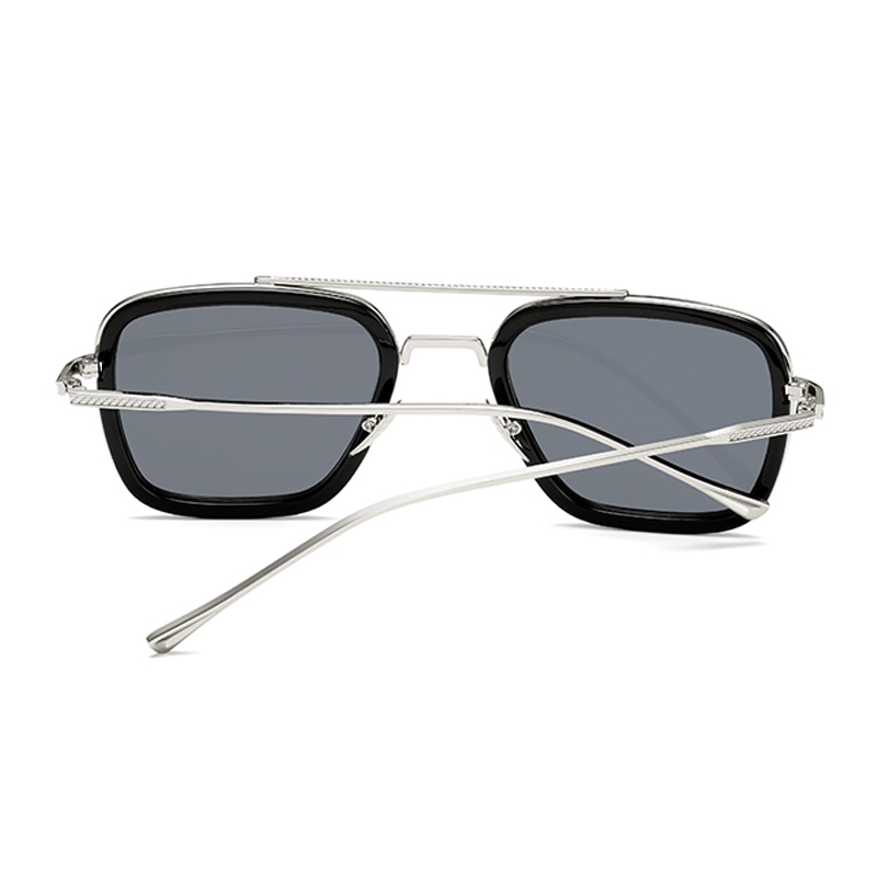 Vintage Steampunk Sunglasses Men Women Tony Stark Iron Man Sun Glasses Retro Square Metal Eyeware Goggles Oculos UV400 in Women 39 s Sunglasses from Apparel Accessories