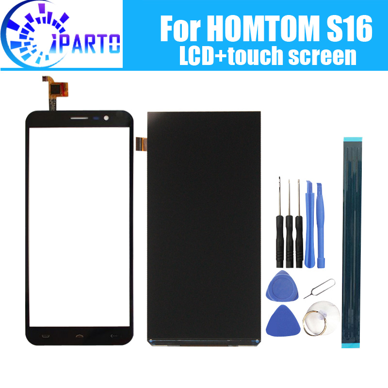 HOMTOM S16 LCD Display + Touch Screen 100% Original Getestet LCD + Digitizer Glas Panel Ersatz Für HOMTOM S16