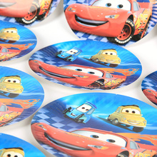 10Pcs Pack Party Plates 7 inch Disney Cartoon Cars Theme Decor boy Birthday Favors Party Plates