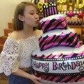 1 pcs Feliz bolo De Aniversário vela de Aniversário balões folha balão balões Tamanho grande Festa De Aniversário Grandes Decorações De Aniversário balao