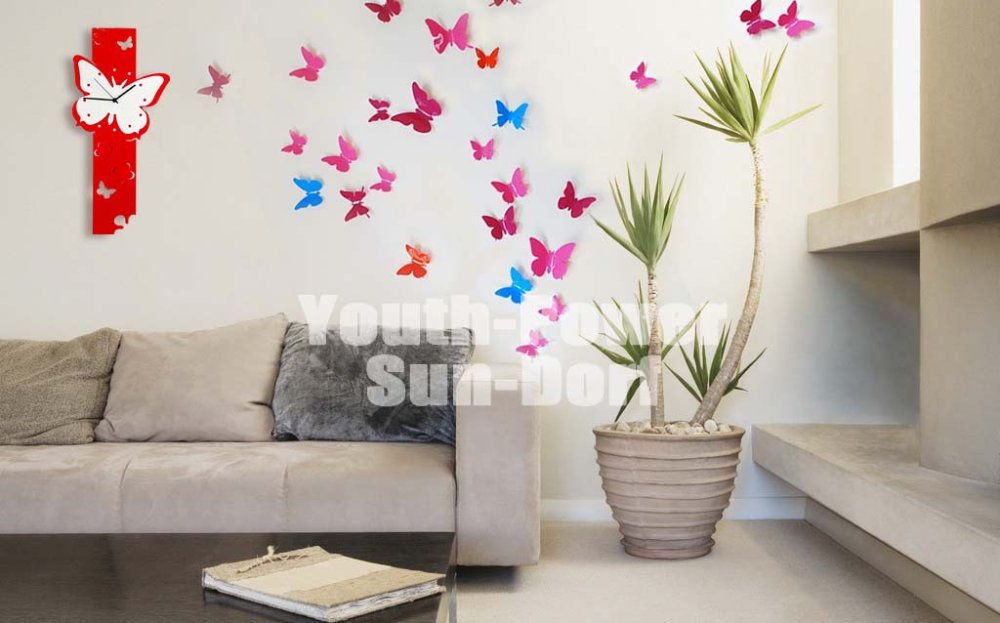 3D Wall Sticker Butterfly 10pcs Home Decor Room Nursery Decorations (L)  10x10cm Stickers For Door Closet Fridge Car 10colors In Wall Stickers From  Home ...