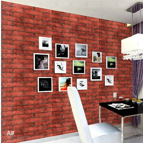 451000cm Red Brick Wallpaper Self Adhesive PVC Wall Paper Vintage Europe Living Room Bedroom Home Decor Papel De Parede Copper In Wallpapers From