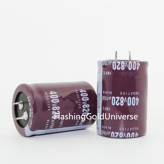 400V 820UF 820UF 400V  Electrolytic Capacitor  volume 35*50 best quality-in Capacitors from Electronic Components & Supplies    1