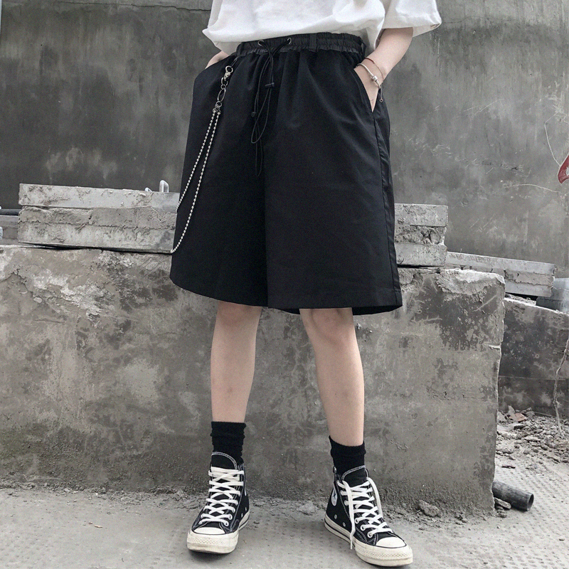 2019 Spring And Summer New Casual Japanese Straight Loose Sports Harajuku Street Country Tide Wild Couple Business Shorts