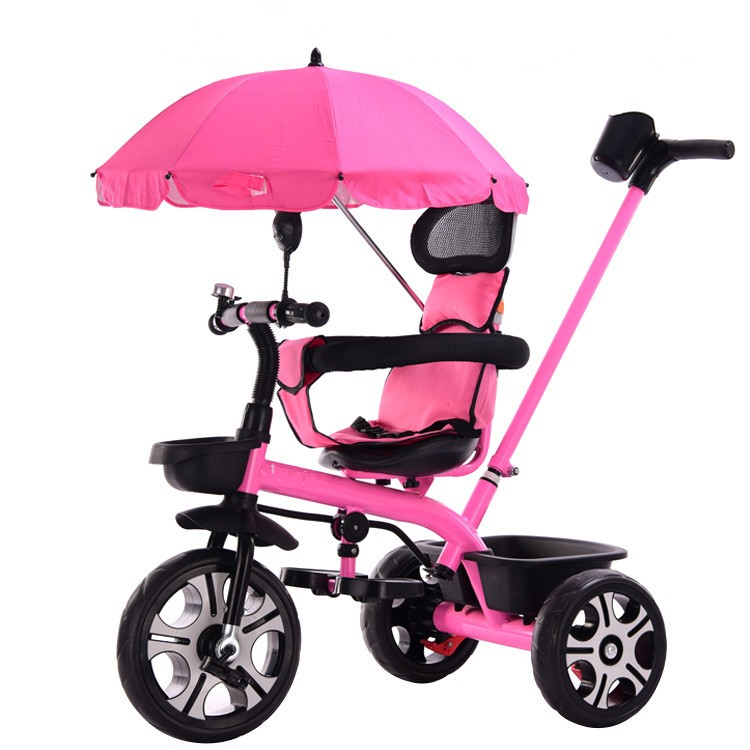 New Arrivals Safe Portable Child Tricycle Bike With Umbrella Folding Three Wheels Seat Tricycle Stroller Bicycle Baby Cart