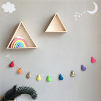 Nordic Baby Room Handmade Nursery Water Droplets Hanging Kids Room Wall Decorations Photobooth Props