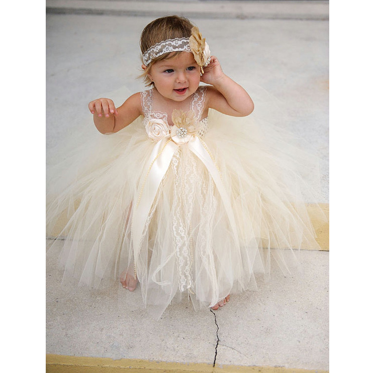 Little Princess Ball Gown Girls Pageant Dress Cute Flower Girl Dress Tulle Ruffles Birthday Party Dresses Infant Baby Prom Dress flower kids baby girl clothing dress princess sleeveless ruffles tutu ball petal tulle party formal cute dresses girls