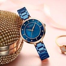 New Watches Women CURREN Fashion Luxury Rhinestone Dial Quartz Clock W