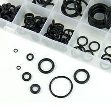 18 Sizes 225pcs Black Rubber O-Ring Kit
