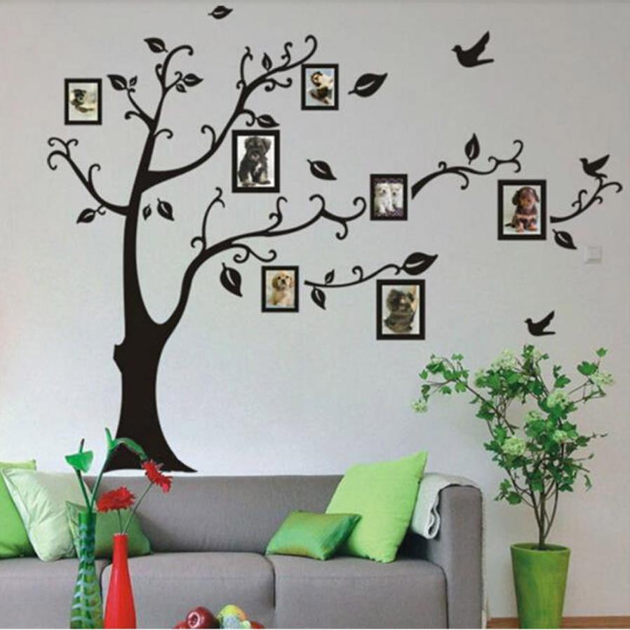 Home Decor 3D Wandaufkleber Auf Der Wand Schwarze Kunst Foto rahmen ...