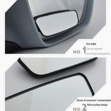 2 Pcs 360 Degree Adjustable Glass Frameless Car Rearview Rear View Mirror Reversing Wide Angle Auxiliary Blind Spot Mirror vodool 2pcs frameless car blind spot mirror 360 degree adjustable wide angle convex rear view mirror car parking rearview mirror