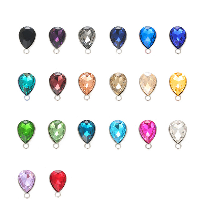 10pcs Water Drop Crystal Necklace Charms Pendant Glass Crystal Charm For DIY Jewelry Making Earring Necklace Accessories Z779 lelady crystal necklace drop pendant fashion necklace