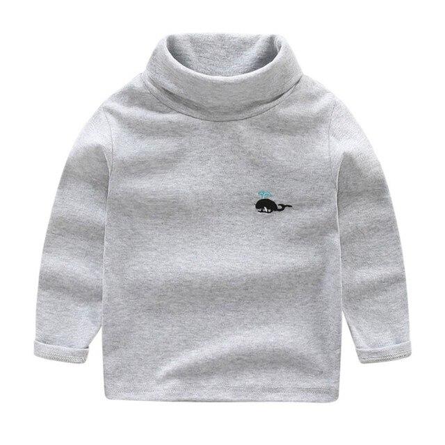 Cotone Delle Ragazze Dei Ragazzi di Autunno della Molla Manica Lunga Magliette e camicette Maglione Dei Bambini Del Bambino Casual Vestiti