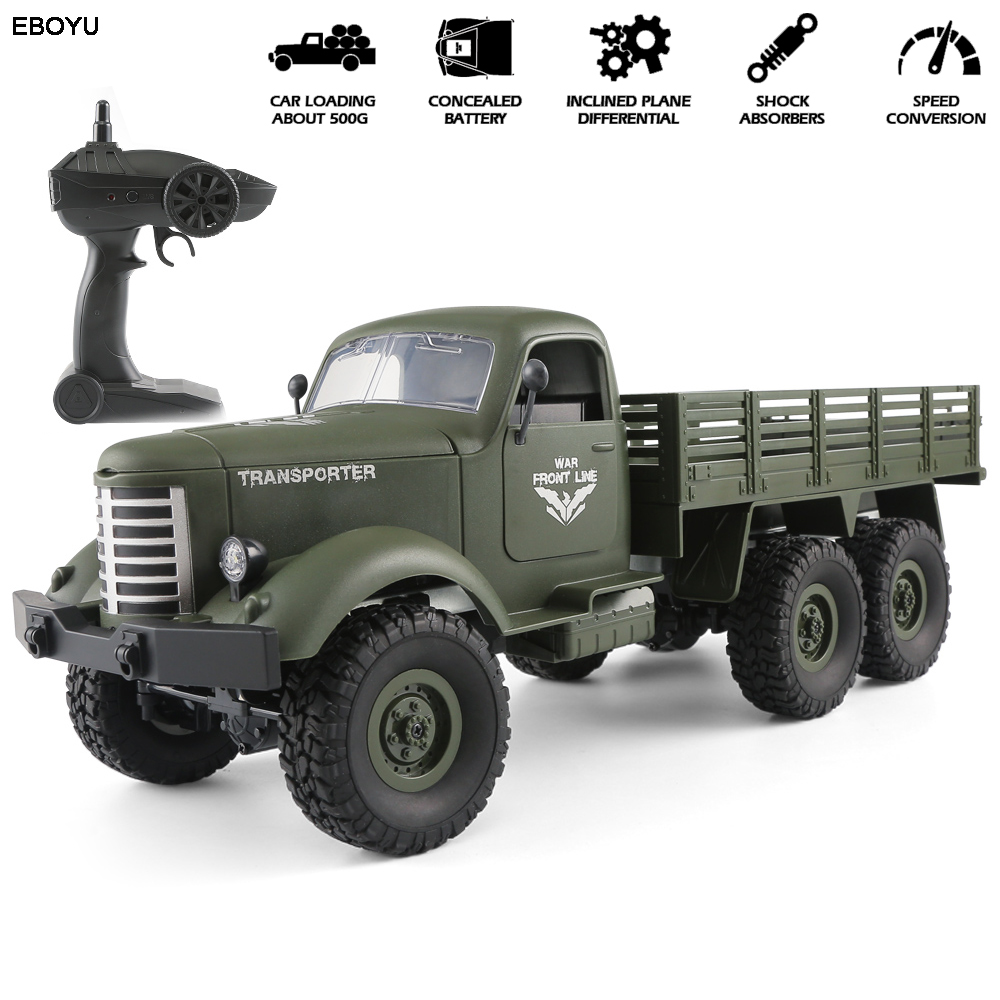 JJRC Q60 / JJRC Q61 1/16 RC Truck 2.4G 6WD/ 4WD RC Off-road Crawler Military Truck Army Car Children Gift Kids Toy for Boys RTR