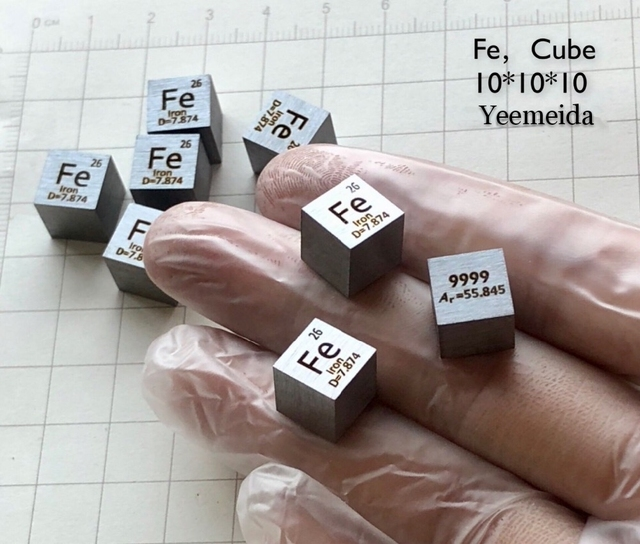Pure 99 Fe Iron Cube Block Bulk Periodic Table Of Rare Earth Metal Elements For