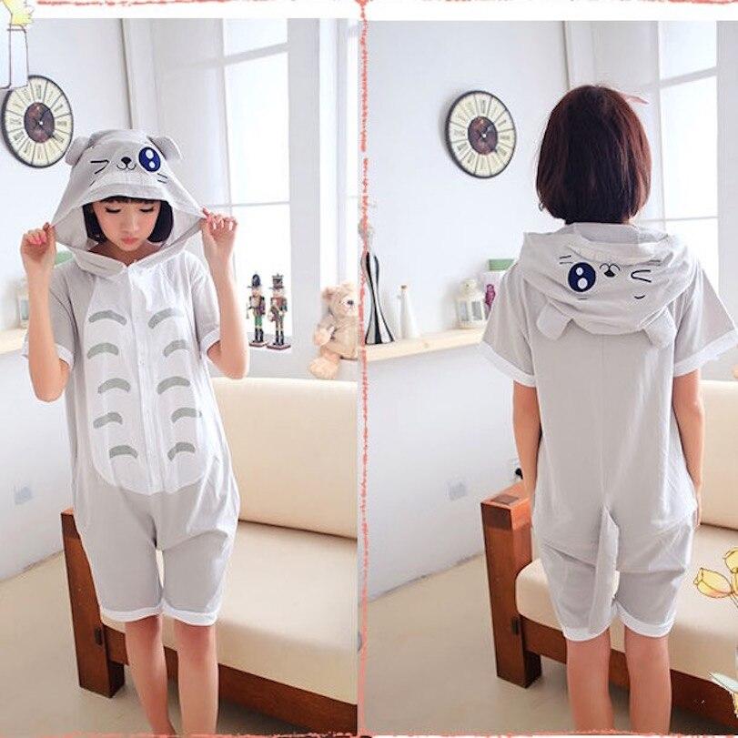 My Neighbour Tottoro Adult Short Sleeve Animal Pajamas Summer Unisex Cosplay Pijamas Cartoon Cotton Onesies men women Pajama