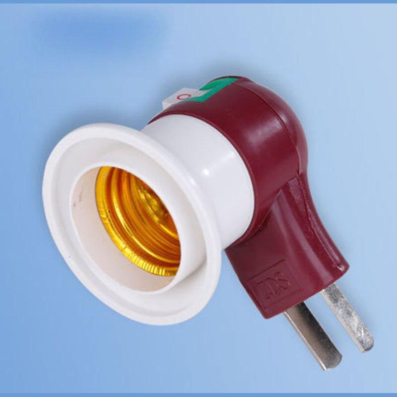 E27 lampe pære lys base extender socket adapter brandfast materiale E27 skrue switch adapter adapter til led globus pære