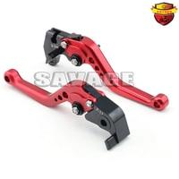 For SUZUKI GSX-R 600 750 11-15 GSX-R 1000 K9 Motorcycle Accessories CNC Billet Aluminum Short Brake Clutch Levers Red