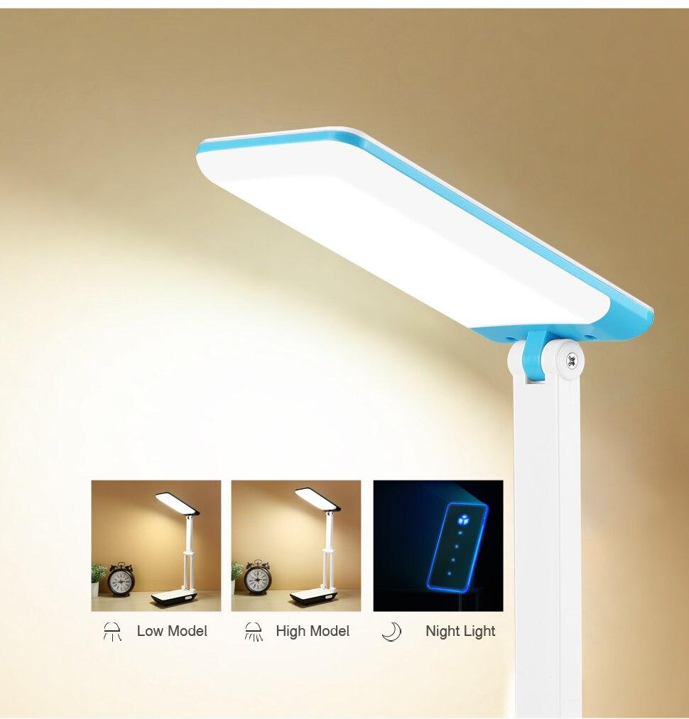YAGE Led Desk Lamps Night Light Foldable LED Table Lamp 1050mAh Battery in Table Light Flexible Three Modes Mini Lamp Flash Deal 12