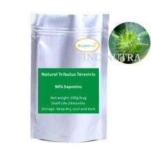 2016 Бесплатная доставка чистая природа Экстракт Tribulus terrestris Сапонины 90% порошок 100 г/пакет мышечной силы продукты