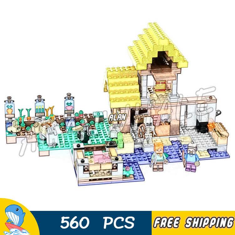 560 قطعة بلدي العالم مزرعة كوخ 2-مستوى منزل الحيوانات 10813 نموذج بناء كتل الاطفال الطوب متوافق مع لاغو Minecrafted