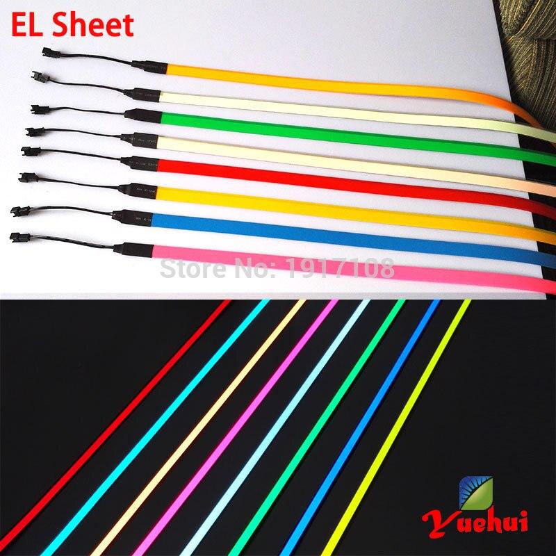 Vruće prodaja 8 boja 1.4X60CM EL vrpca EL žice EL traka za auto, - Za blagdane i zabave - Foto 4