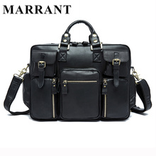 MARRANT Genuine Leather Men Bags New Male Briefcase Man Business Laptop Bag Men Crossbody Shoulder Handbags Men's Messenger 8812