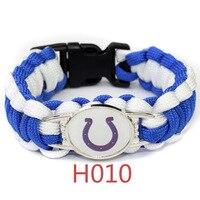 indianapolis colts Super Bowl Championship umbrella Rope Bracelet weaving outdoor Survival bracelet Wholesale Gift