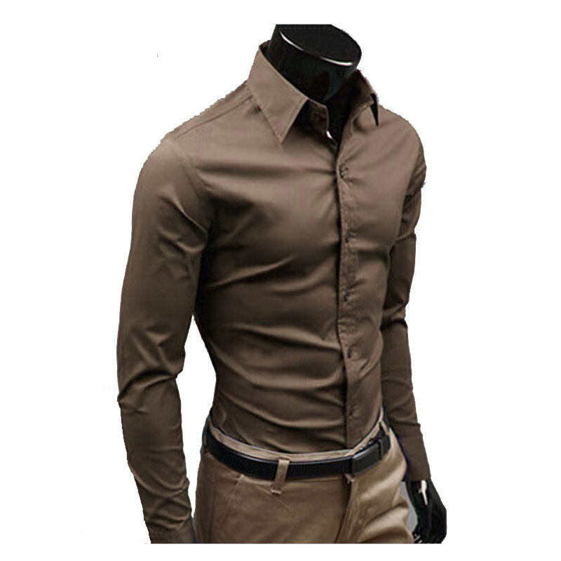 846aad1c46fac4 Related Products. Men Shirt Brand 2017 Male High Quality Long Sleeve Shirts  Casual ...