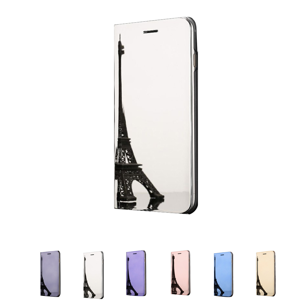 For iphone6/6S/7/8/X 6/6S/7/8plus Flip Stand Smart View Case Anti-scratch Back Shell Anti-knock TPU PU Phone Cover