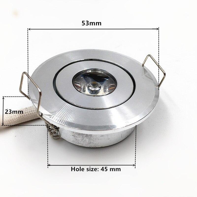 DHL 50 шт. затемнения 1 Вт 3 Вт Мини светодиодный свет звезды светодиодный светильник для шкафа Мини светодиодный светильник 85-265 в CE ROHS потолочный светильник