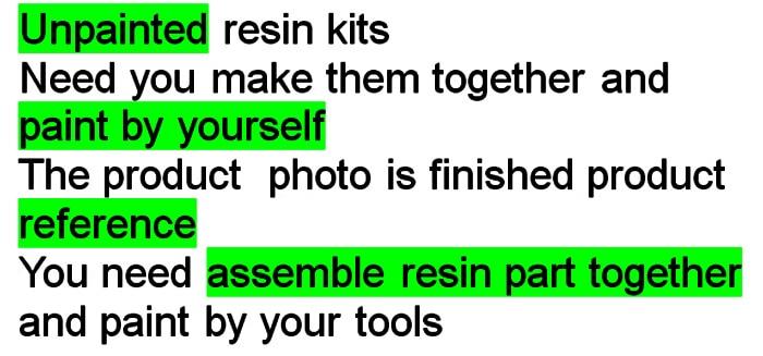 Assembly Scale  Models 1/10 Resin Bust Berserker  Figure  Resin Model  Unpainted
