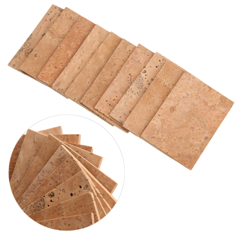 10pcs Natural Sax Neck Cork Sheet Suitable For Soprano /Tenor/ Alto Saxophone
