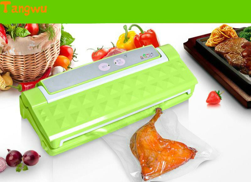 Free shipping NEW Commercial food vacuum packing machine, automatic sealing household plastic packaging Vacuum Food Sealers