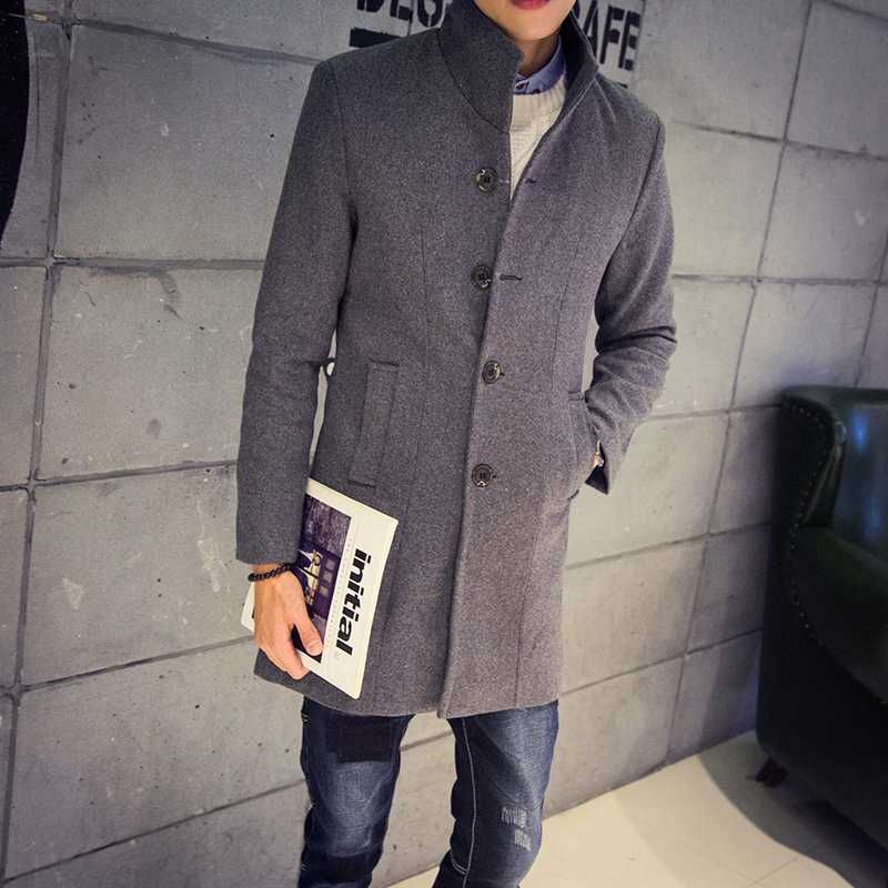 Aliexpress.com : Buy Men's Long Woolen Coat Winter Wool Men's New ...