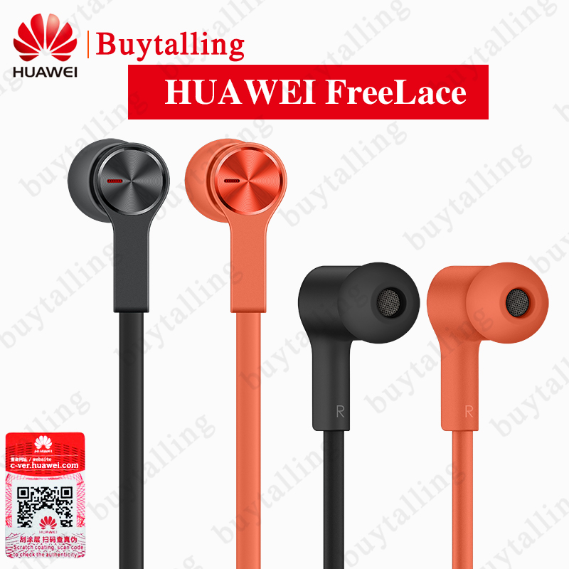Official Huawei FreeLace Wireless Earphone Bluetooth Sport waterproof in ear Memory Cable Metal Cavity Silicon magnetic
