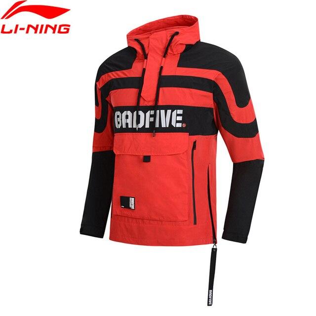 Li-Ning Men NYFW Bad Five Basketball Windbreaker Polyester Regular Fit Windproof CHINA LiNing Sports Coat Jacket AFDP009 MWF387